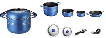 Set de 10 casseroles Alu Skipper Bleu